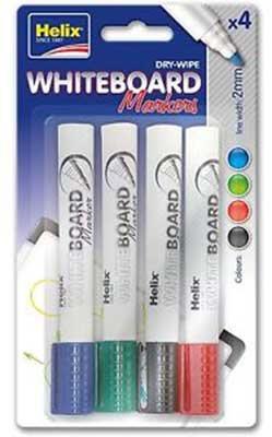 Helix Whiteboard Markers X 4