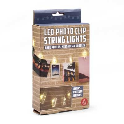 Photo holder string lights