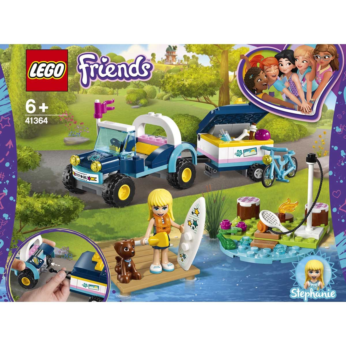 LEGO (R) Stephanie's Buggy & Trailer: 41364