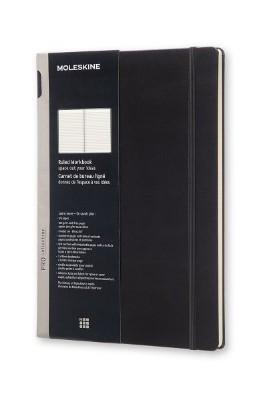 Black Ruled Workbook Hard A4