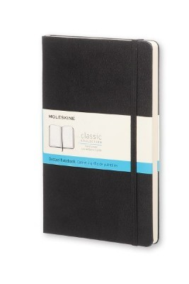 Black Dotted Hard Notebook L