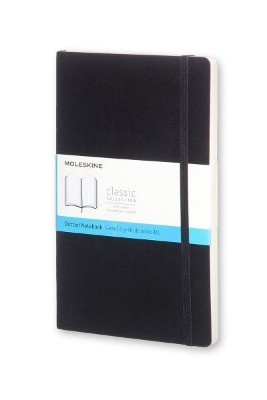 Black Dotted Soft Notebook L