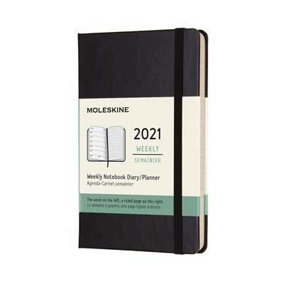 Black Pocket Weekly Hard Diary 2021: Moleskine (Diary)