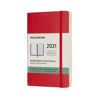 Red Pocket Weekly Soft Diary 2021: Moleskine (Diary)