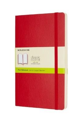 Scarlet Red Plain Soft Notebook L