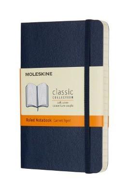 Sapphire Blue Ruled Soft Notebook Pocket