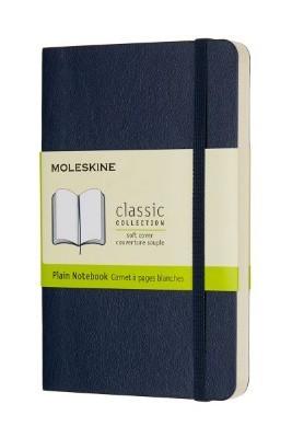 Sapphire Blue Plain Soft Notebook Pocket