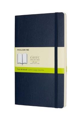 Sapphire Blue Plain Soft Notebook L