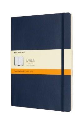Sapphire Blue Ruled Soft Notebook Xl