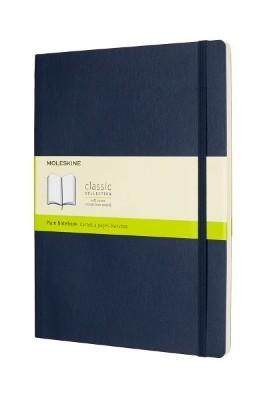 Sapphire Blue Plain Soft Notebook Xl