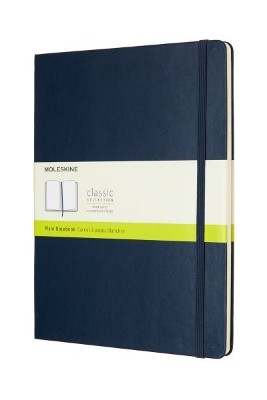 Sapphire Blue Plain Hard Notebook Xl
