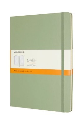 Willow Green Ruled Hard Notebook Xl