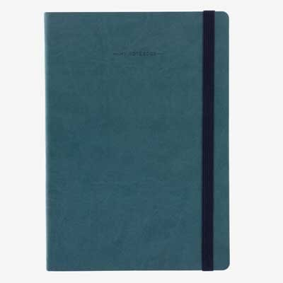 Petrol Blue Large Lined Notebook