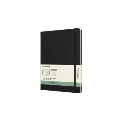 Black XL Weekly Hardcover 18 Month Diary 2021-2022 (Diary)