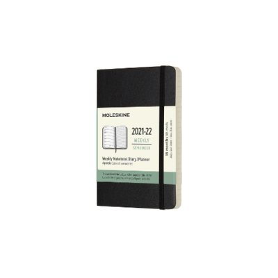 Black Pocket Weekly Softcover 18 Month Diary 2021-2022 (Diary)