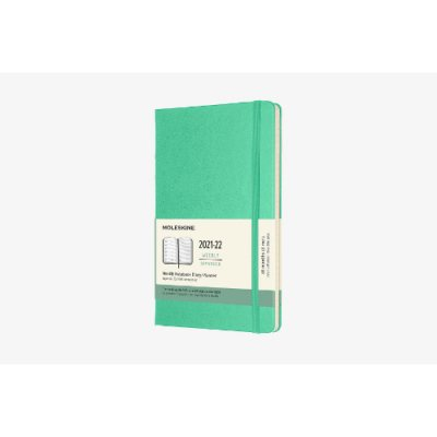Ice Green Large Weekly Hardcover 18 Month Diary 2021-2022 (Diary)