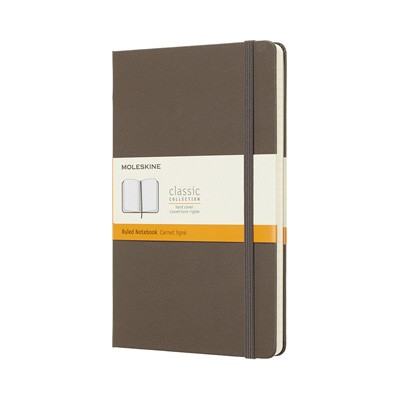 Earth Brown Ruled Hard Notebook Large