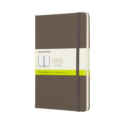 Earth Brown Plain Hard Notebook Large