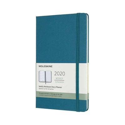 Magnetic Green Large Weekly Hard Diary 2020 (Diary)