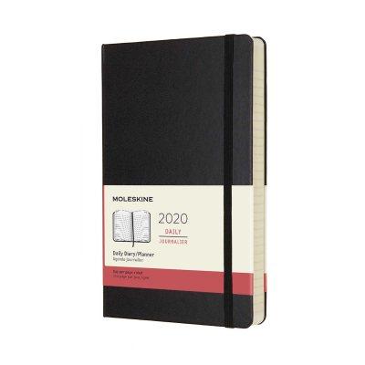 Black Daily Large Hard Diary 2020 (Diary)