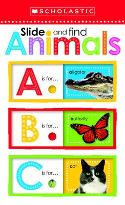 Slide and Find Animals ABC - Scholastic Early Learners (Board book)