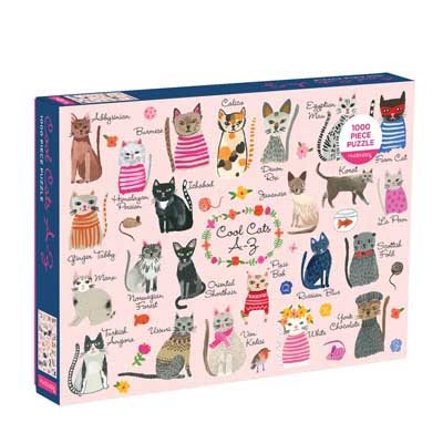 Cool Cats A-Z 1000 Piece Puzzle (Jigsaw)