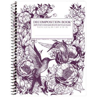 Hummingbirds Decomposition Spiral Notebook