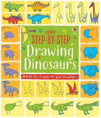 Step-by-Step Drawing Book Dinosaurs - Step-by-Step Drawing Book (Paperback)