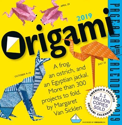 2019 Origami Colour Page-A-Day Calendar (Calendar)