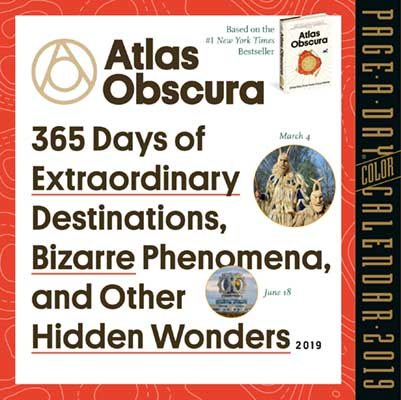 graphic about Page a Day Calendar identified as 2019 Atlas Obscura Color Website page-A-Working day Calendar (Calendar)