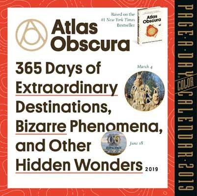 2019 Atlas Obscura Colour Page-A-Day Calendar (Calendar)
