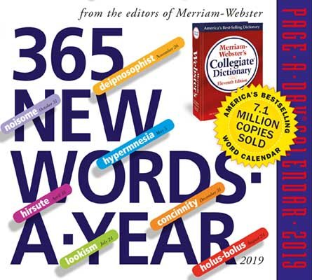 2019 365 New Words-A-Year Page-A-Day Calendar (Calendar)