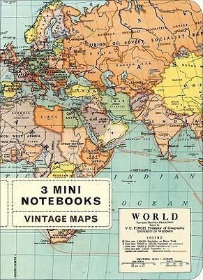 Mini Vintage Map Notebook