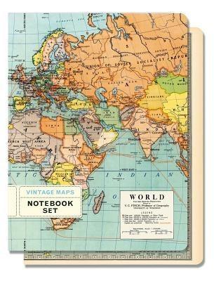 Vintage Maps Notebook Set Of 2