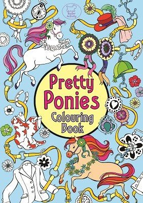 Pretty Ponies Colouring Book (Paperback)