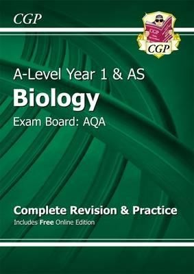 A-Level Biology: AQA Year 1 & AS Complete Revision & Practice with Online Edition (Paperback)