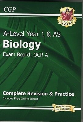 A-Level Biology: OCR A Year 1 & AS Complete Revision & Practice with Online Edition (Paperback)