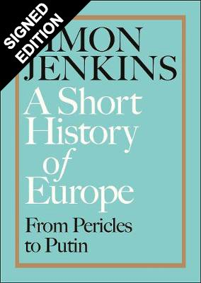 Cover of the book, A Short History of Europe: From Pericles to Putin.