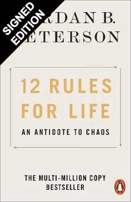 Cover of the book, 12 Rules for Life: An Antidote to Chaos.
