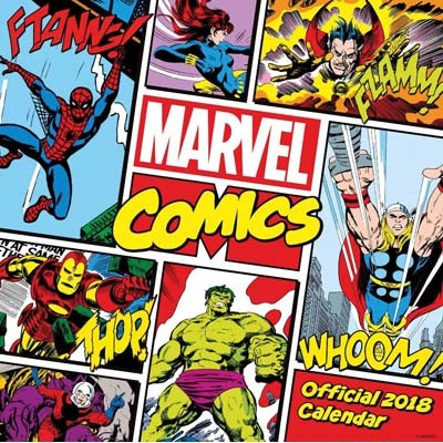 Marvel Comics Classic Official 2018 Calendar - Square Wall Format (Calendar)