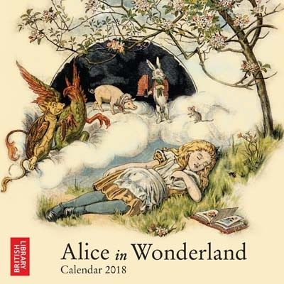 British library alice in wonderland mini wall calendar 2018 art calendar calendar