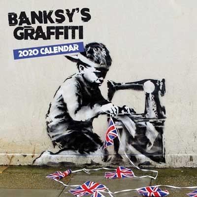 2020 Banksy's Graffiti Mini Wall Calendar (Calendar)