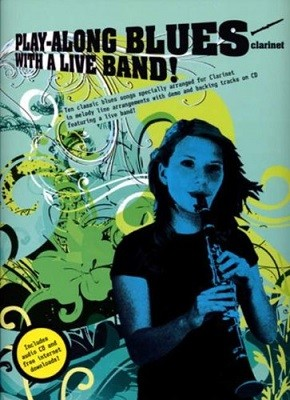 Play-Along Blues With A Live Band: Clarinet (Book And CD) (Paperback)