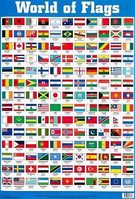 World of Flags Wallchart - Byeway Wall Charts (Poster)