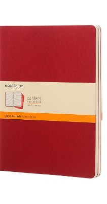 Moleskine Ruled Cahier Xl - Red Cover (3 Set) - Moleskine Cahier