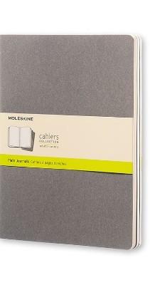 Moleskine Pebble Grey Plain Cahier Extra Large Journal (3 Set) - Moleskine Cahier