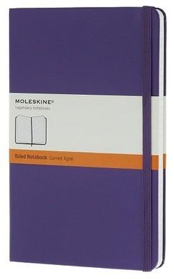Moleskine Brilliant Violet Large Ruled Notebook Hard - Moleskine Classic