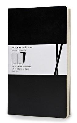 Moleskine Volant Large Ruled Black 2-set - Moleskine Volant