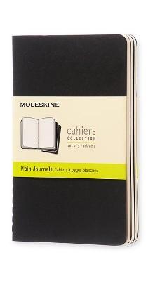 Moleskine Plain Cahier - Black Cover (3 Set) - Moleskine Cahier