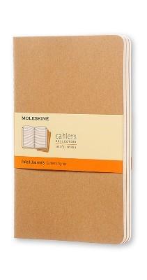 Moleskine Ruled Cahier L - Kraft Cover (3 Set) - Moleskine Cahier